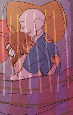 Sans x Frisk Comic - Sans x Frisk - Page 3 - Wattpad Sans X Frisk Comic, Undertale Love, Anime Undertale, Undertale Memes, Undertale Ships, Undertale Drawings, Frans Undertale, Underswap, Art Reference Poses