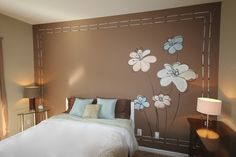 Imagine Sleeping Here. Bedroom ideas or guest bedroom decorating. Modern f Girls Bedroom, Bedroom Decor, Bedroom Ideas, Master Bedroom, Apple Painting, Flower Mural, Beautiful Home Designs, Interior Inspiration, Bedroom Inspiration