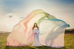 * Chicaboo Extra Long {Serenity} Tulle Skirt Pastel Rainbow (Skirt Only)- SKIRT ONLY. 2 layers of soft tulle & lined with semi sheer chiffon, no split.