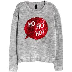 Christmas Sweater with Sequins $19.99 ($20) ❤ liked on Polyvore featuring tops, sweaters, long sleeve knit sweater, sequin top, sequin christmas sweaters, xmas sweaters and long sleeve knit tops