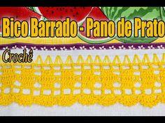 Bico Barrado pano de Prato em crochê - Professora Simone #crochet #passo...