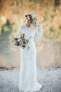 Eine Indian Summer-Braut in den Alpen TALI PHOTOGRAPHY http://www.hochzeitswahn.de/inspirationsideen/eine-indian-summer-braut-in-den-alpen/ #wedding #boho #bride