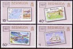 Bermuda Ameripex Stamps Postage Stamps, Frame, Picture Frame, Stamps, Frames