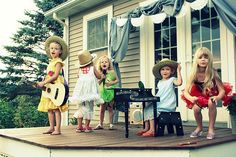 Cute idea (good for indoors, too, of course): Set up a Family Talent Show