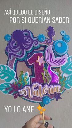 Mermaid Theme Birthday, Little Mermaid Birthday, Little Mermaid Parties, Birthday Party Decorations, 1st Birthday Parties, Party Themes, Diy Cake Topper, Birthday Cake Toppers, Little Mermaid Cake Topper