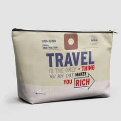 Travel is - Old Tag - Pouch Bag - airportag   - 1