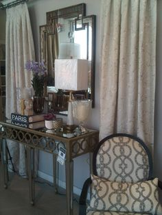 console styling by Lindzi Armstrong for displayologyToronto Hallway Displays, Console Styling, Consoles, Decor Ideas, Curtains, Inspiration, Home Decor, Style, Biblical Inspiration