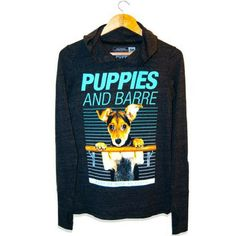 Puppies and Barre Athletic Hoodie