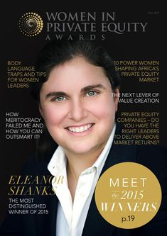 Women In Private Equity Awards 2015  The Women in Private Equity Awards has been created to bring a greater awareness of the need for gender diversity in private equity and in executive leadership teams.