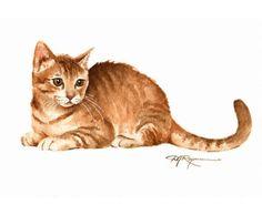 TABBY chaton chat Art Print signée par l'artiste DJ Rogers