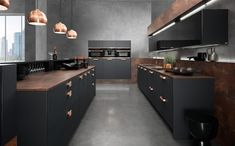 Küche schwarz und kupfer * Inspirationen für Kücheneinrichtung * kitchen * rational