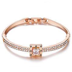 "50% OFF SALE PRICE - $21.97 - Menton Ezil ""Spiritual Guidance"" Bangle Bracelets Adjustable Rose Gold Crystal Love Design Jewelry Women Gift"