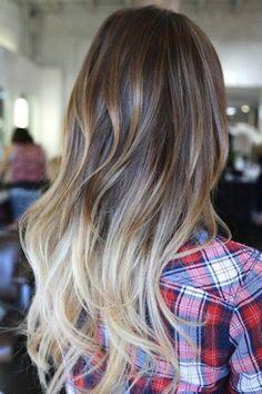 Ombre Hair: Inspiration to Bring to the Salon Esse eu definitivamente AMEI! Onbre Hair, Hair Day, Her Hair, Great Hair, Awesome Hair, Hair Highlights, Gorgeous Hair, Pretty Hairstyles, Summer Hairstyles