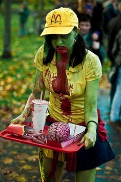 Zombie Burger      #zombie #sexy #zombies #pretty #bloody #deadly #ghouls #girls #creatures #sucking #vampire #gothic #girl #dark #fashion