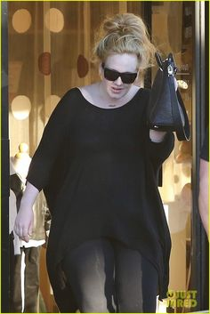 Adele at Bel Bambini Boutique in West Hollywood 1/21/13