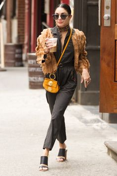 Vanessa Hudgens leaving her apartment in NYC. - June 18th