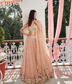 Beautiful Bridal Lehenga Dress by Indian Designer Indian Style Blouse with Embellished Pink Lehenga & Fancy Bridal Dupatta Indian Bridal Lehenga, Pakistani Bridal Dresses, Indian Dresses, Bridal Dupatta, Nikkah Dress, Saree Dress, Indian Wedding Outfits, Bridal Outfits, Indian Outfits