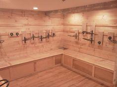 Gotta love this brand new tack room!   www.Nicker.com