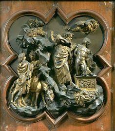 Lorenzo Ghiberti Sacrificio d'Isacco 1401 - 03 Firenze, Museo Nazionale del Bargello