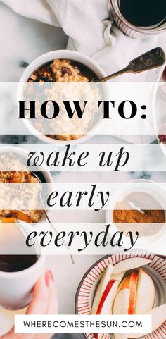 Simple, actionable tips to wake up at 6 am everyday feeling energized and motivated! #howto #earlyrisers This is what worked for me in the craziest way! Give it a try and you'll be amazed!   | how to wake up early everyday | how to wake up at 6 am | how to be an early riser |