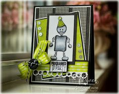 Card by Andrea Ewen using Geared Up from Verve Stamps. #vervestamps