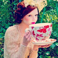 I love the big tea cup. So many ideas...