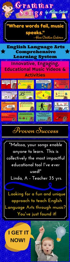 These catchy and fun lyrics and melodies make learning effortless for achieving life-long educational goals. I wrote these songs and created these activities to teach my students for life; therefore, I use an innovative method for reaching multiple learning styles. My music has reached and impacted every student that has been in my classroom. The inter-connectivity of my plan allows you to create an engaging and fun learning environment.
