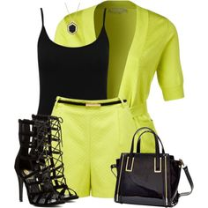 A fashion look from June 2016 featuring yellow top, sheer top and short shorts. Browse and shop related looks. Classy Outfits, Stylish Outfits, Fashion Outfits, Love Fashion, Fashion Looks, Womens Fashion, Funny Fashion, Club Fashion, 1950s Fashion
