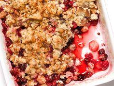 #FNMag's Cranberry-Pear Crisp #ThanksgivingFeast #Dessert #Thanksgiving