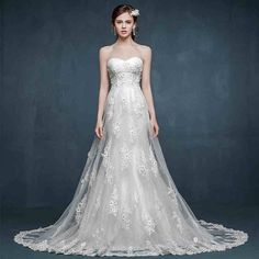 Mermaid Wedding Dress http://www.ilbelloweddings.com/collections/wedding-gown/products/copy-of-hl1006-zeatty