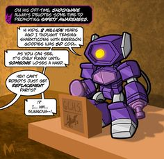 Lil Formers - Shockwave II by MattMoylan on DeviantArt Transformers Cybertron, Transformers Funny, Safety Awareness, Rescue Bots, Monster Musume, Optimus Prime, Sound Waves, Role Models, Chibi