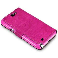 Amazon.com: Hot Pink Samsung Galaxy Note 2 Low Profile Covert Branded PU Leather Wallet Case / Cover / Pouch: Cell Phones & Accessories