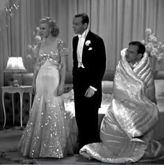 "Ginger Rogers and Fred Astaire The Piccolino Dress, from ""Top Hat."" My favorite Ginger Rogers dress of all time! Vintage Hollywood, Old Hollywood Glamour, Golden Age Of Hollywood, Fred Astaire, Vintage Glamour, Vintage Beauty, Moda Vintage, Vintage Mode, 1930s Fashion"