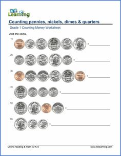 best counting money worksheets images  coins math classroom nd  grade  counting money worksheets on adding pennies nickels dimes and  quarters free pdf worksheets from learnings online reading and math  program