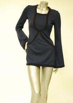 61e00c22ae4c Knitted, Long Sleeve Navy Blue Dress Sale. Paula Hian - Designer