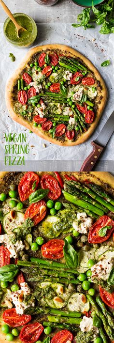 #pizza #vegan #dairyfree #italian #entree #main #cheesefree #healthy #veggie #vegetarian #spring #clean #cleaneating