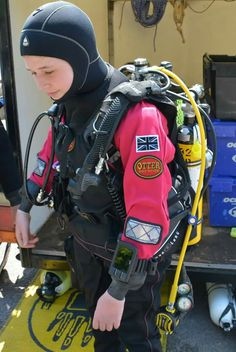 Buy Commercial Diving Tools from Experienced Saturation Diver. Scuba Wetsuit, Diving Wetsuits, Technical Diving, Diving Suit, Cave Diving, Scuba Diving Equipment, Scuba Girl, Womens Wetsuit, Biker Girl
