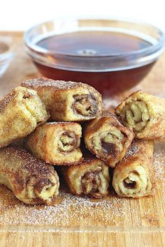 French Toast Roll Ups: