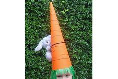 giant carrot cone hat for easter