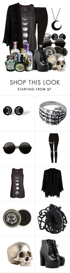 """""""Witch vibes"""" by worldscollidex ❤ liked on Polyvore featuring Anello, Topshop, Oasis and Arteriors"""