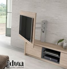 Panels TV to guide our television in the salonguide Outdoor Living Rooms, Living Room Modern, Living Room Designs, Dining Rooms, Tv Unit Design, Tv Wall Design, Living Room Tv Unit, Living Room Decor, Tv Wall Cabinets