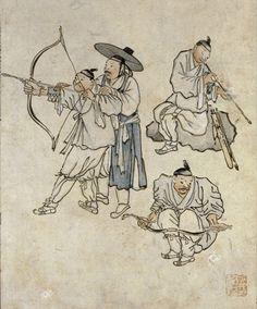 Korea Horn bow is smallest of world . It has very elasticity and Power.  archery was a way of kind of mental training in korea .  // / 조선 사람들은 양반이나 서민이나 활쏘기를 좋아한다. 정부는 이 운동이 훌륭한 사수를 길러내는 하나의 좋은 방법이라고 생각하여 장려하고 있다. 조선인들은 유약하다거나 비겁하지 않다. 신체의 단련이며, 활쏘기, 사냥에 많은 취미를 가지고 있고, 피로 앞에 굴복하지 않는다. - 프랑스 선교사, 지리학자 뒤알드(Du Halde)