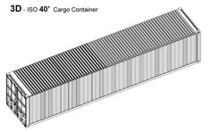 Shipping Container Home - RSCP - Shipping Container 40' 3D Model