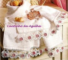 Barrado Em Crochê Com Flores