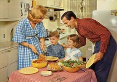 Image result for vintage family dinner