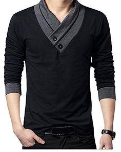 Minibee Men's V-Neck Long Sleeves Mosaic Shirts Black XXXL Minibee http://www.amazon.com/dp/B00TAG8PA2/ref=cm_sw_r_pi_dp_imqwwb157SCE2