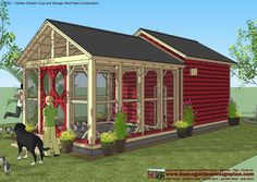 CB201 - Combo Plans - Chicken Coop Plans Construction + Garden Sheds Plans - Storage Sheds Plans Construction CB201 - Combo Plans ...