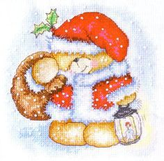 Forever Friends Snuggly Santa Bear  Cross Stitch Favourites Christmas Special Issue Hardcopy