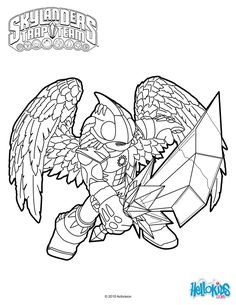skylanders trap team coloring pages - shrednaught | character colouring | pinterest | coloring
