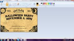 This craft is pretty easy, as long as you have Microsoft Word, and a printer, you're away. It makes invites that little bit more festive, w...